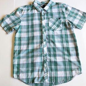 O'Neill Mens Shirt Archie Mint Short Sleeve Button